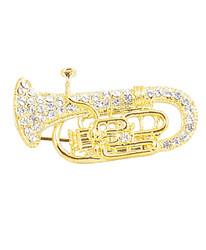 Brooch - Gold Trumpet IMBCBR09172