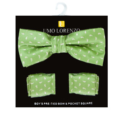 Boy's Fancy Bow Tie and Hanky Set - BFTH3026