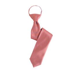 Boy's Orange  Geometric/Polka Dot  Zipper Ties - MPWZ3303-OR1-17