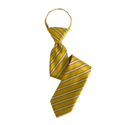 Boy's Yellow Shadow Stripes Zipper Ties - MPWZ3303-YW11-17