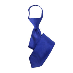 Boy's Blue Solid Zipper Tie - MPWZ3303-BL7-17
