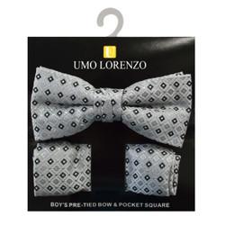 Boy's Fancy Bow Tie and Hanky Set