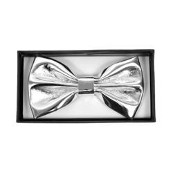 Men's Metallic Silver Banded