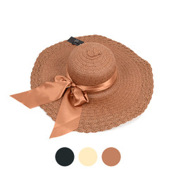 "6pc Women's 5"" Brim Bow Floppy Hat LFH1116"