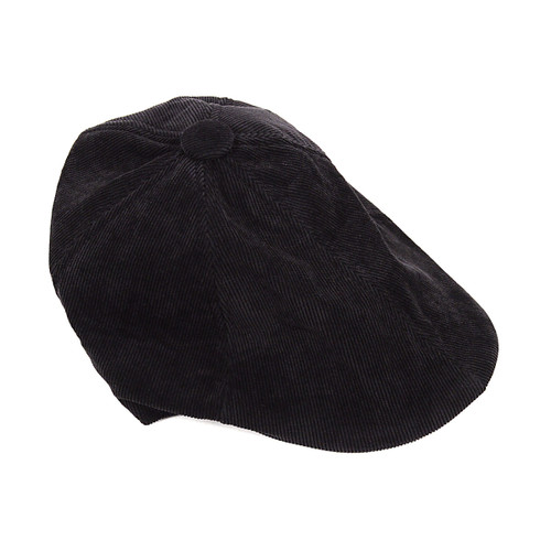 6pc Men's Black Corduroy Ivy Hat HT0335