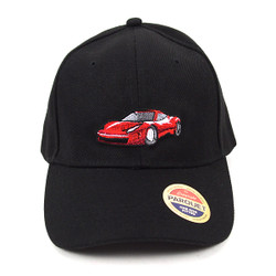 Red Car Black Embroidered Baseball Cap (BCC010516SC)