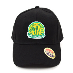 Vegetarian Black Embroidered Baseball Cap (BCC011116VEG)