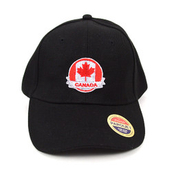 Canada Flag Black Embroidered Baseball Cap (BCC011116CM)