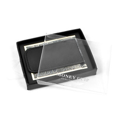 Black Genuine Leather Money Clip MC912BK