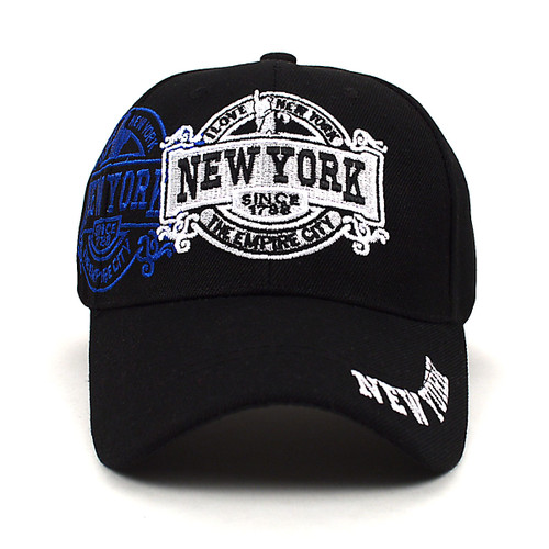 New York Black 3D Embroidered Baseball Cap, Hat EBC10285