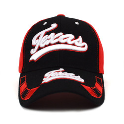 Texas Red & Black Baseball Cap EBC10288