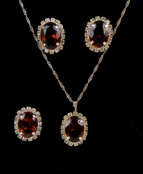 Pendant Necklace, Earrings, and Ring Set - IMJS0495BR