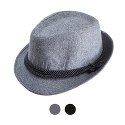 Men's Poly/Cotton Gray Westend Fedora Hats