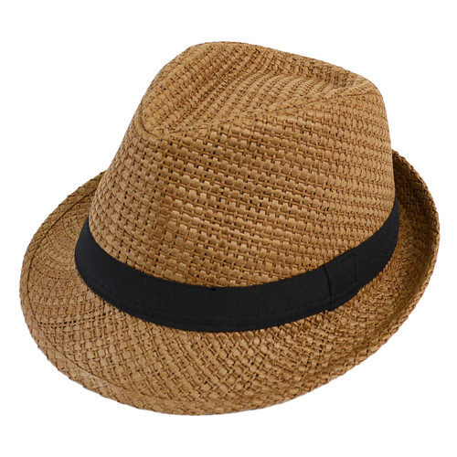 Men's Polyester Fall Rust Fedora Hat