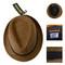 6pc Men's Polyester Fall Rust Fedora Hat