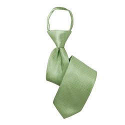 Boy's Green Geometric/Polka Dot Zipper Tie - MPWZ3303-GR7-14