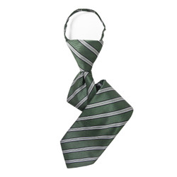 Boy's Sage  Striped Zipper Tie - MPWZ3303-OL2-14