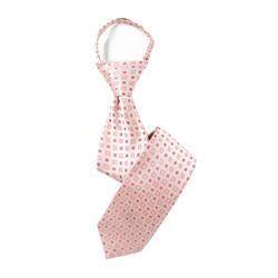 Boy's Plaid Geo Cubic  Zipper Tie - MPWZ3303-OR4-17