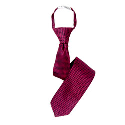 Boy's Hot Pink  Geometric/Polka Dot Zipper Tie - MPWZ3303-PK5-17