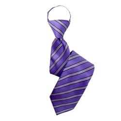 Boy's  Purple  Shadow Striped Zipper Tie - MPWZ3303-PR10-17