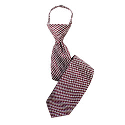 Boy's Rust Houndstooth  Zipper Tie - MPWZ3303-RD5-17