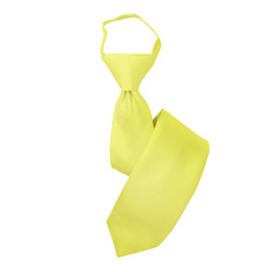 Boy's Yellow  Solid Zipper Tie - MPWZ3303-YW1-17