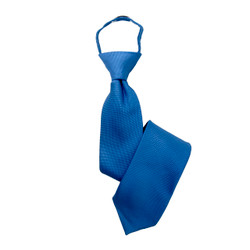 Boy's Royal Blue Solid  Zipper Tie - MPWZ3303-TQ2-17