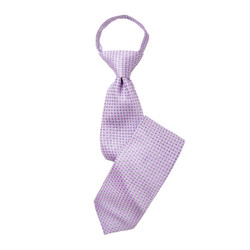 Boy's Purple  Geometric/Polka Dot Zipper Tie - MPWZ3303-PR4-17