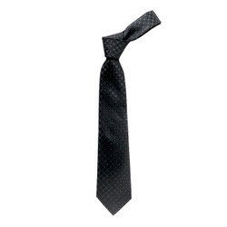 Boy's Black  Geometric/Polka Dot Fashion Tie - MPWB3303-BK4