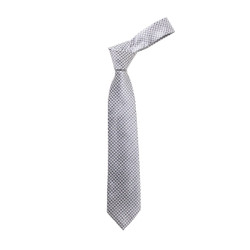Boy's Black Geometric/Polka Dot  Micro Fiber Poly Woven Tie - MPWB3303-BK7