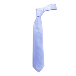 Boy's Blue Solid Micro Fiber Poly Woven Tie - MPWB3303-BL2