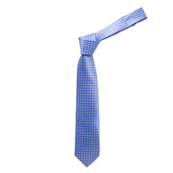 Boy's Blue  Geometric/Polka Dot Fashion Tie - MPWB3303-BL9