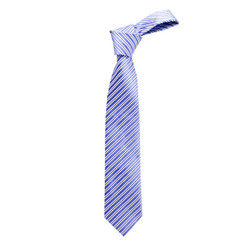 Boy's Blue Shadow Stripes  Micro Fiber Poly Woven Tie - MPWB3303-BL13