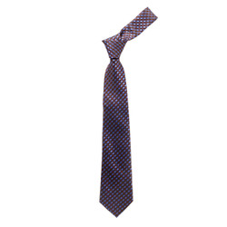 Boy's  Brown  Plaid Micro Fiber Poly Woven Tie - MPWB3303-BR3