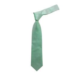 Boy's Green Geometric/Polka Dot Micro Fiber Poly Woven Tie - MPWB3303-GN1