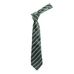 Boy's Olive Shadow Stripes Micro Fiber Poly Woven Tie - MPWB3303-OL2