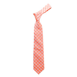 "Boy's 49"" Plaid Orange Fashion Tie"