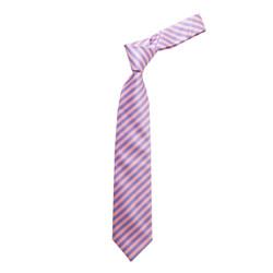 Boy's  Barber Striped Micro Fiber Poly Woven  Tie - MPWB3303-PK6