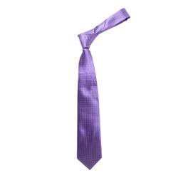 "Boy's 49"" Grid Purple Fashion Tie"