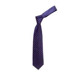 Boy's Cubic Purple Geometric/Polka Dot Tie - MPWB3303-PR5