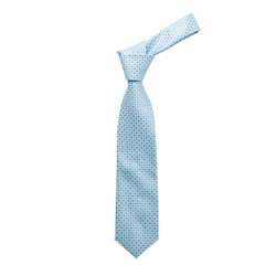 Boy's Turquoise  Geometric/Polka Dot Fashion Tie - MPWB3303-TQ8