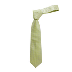 Boy's Yellow Geometric/Polka Dot Micro Fiber Poly Woven Tie - MPWB3303-YW2