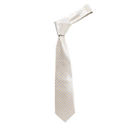 Boy's Yellow  Geometric/Polka Dot Micro Fiber Poly Woven Tie - MPWB3303-YW7