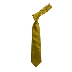 Boy's Yellow Geometric/Polka Dot  Fashion Tie - MPWB3303-YW9