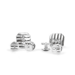 Metal Cufflinks & 4 Stud Set CSS2503