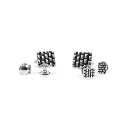Metal Cufflinks & 4 Stud Set CSS2504