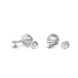 Metal Cufflinks & 4 Stud Set CSS2505