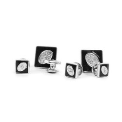 Metal Cufflinks & 4 Stud Set CSS2506