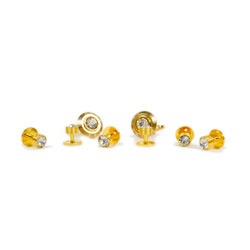 Gold-tone Brass Cufflinks & 6 Stud Set CSS1705