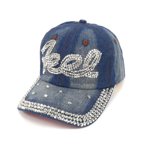 "Bling Studs ""Feel"" Denim Cap"